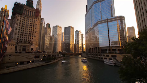 Time-lapse Chicago: The Main Stem At Dusk