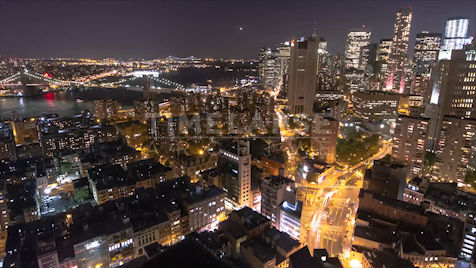 Time-lapse New York: Bowery & Canal At Night