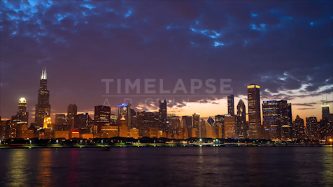 Time-lapse Chicago: Skyline At Dusk