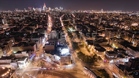 Time-lapse New York: Manhattan Skyline From Bowery