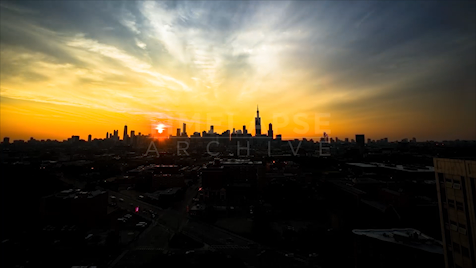 Time-lapse Chicago: City Sunrise