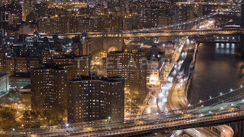 Time-lapse New York: FDR Drive From Chinatown