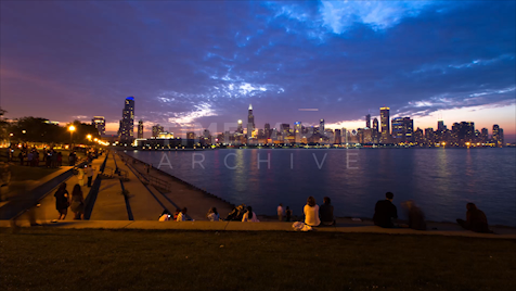 Chicago: Skyline Dusk To Night