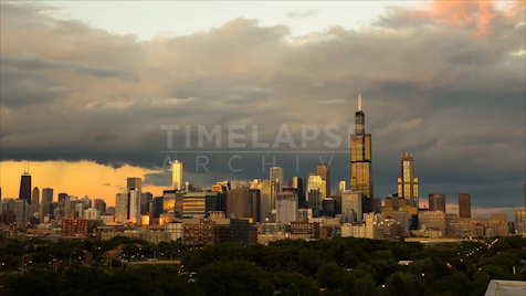 Time-lapse Chicago: West Side Skyline