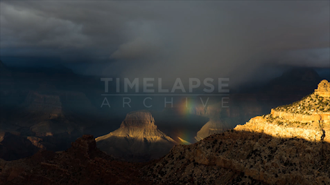 Time-Lapse Grand Canyon: Rainbow At Dusk