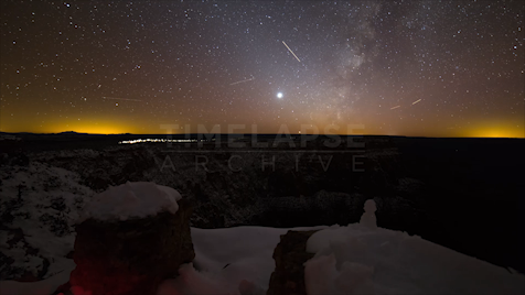 Time-Lapse Grand Canyon: Snowy Astrolapse