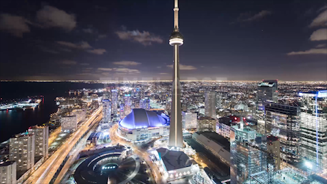 Time-lapse Toronto: Downtown At Night
