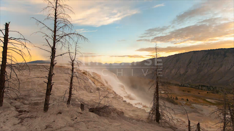 Time-lapse Yellowstone: Canary Springs