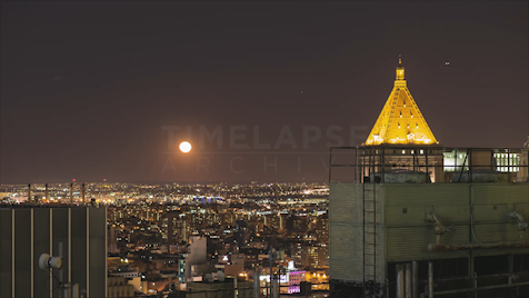 New York: Moonrise Over Queens