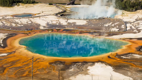 Time-lapse Yellowstone: Grand Prismatic 1