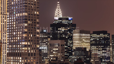 4k Time-Lapse New York: Chrysler Building At Night