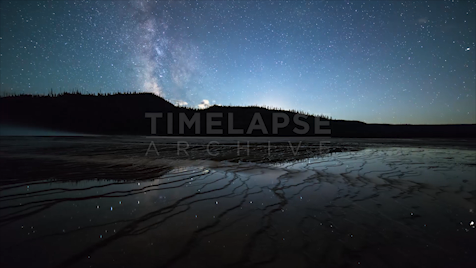 Time-lapse Yellowstone: Moonset Tracking