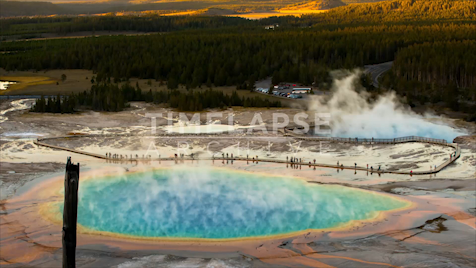 Time-lapse Yellowstone: Grand Prismatic Spring