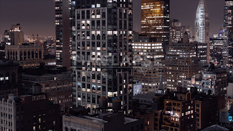 Time-lapse New York: Midtown at Night