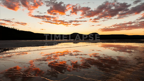 Time-lapse Yellowstone: Grand Prismatic Sunset