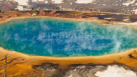 Time-lapse Yellowstone: Grand Prismatic Close
