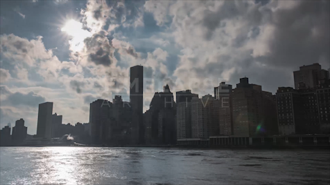 Time-lapse New York: Manhattan from Roosevelt Island