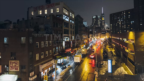 Time-lapse New York: Chinatown Division Street 2