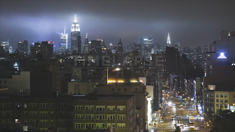 Time-lapse New York: Midtown Night Skyline 1