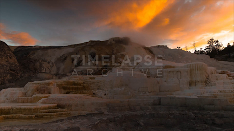 Time-lapse Yellowstone: Minerva Terrace