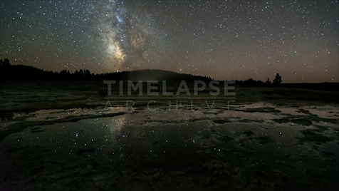 Time-lapse Yellowstone: Grand Prismatic Astrolapse