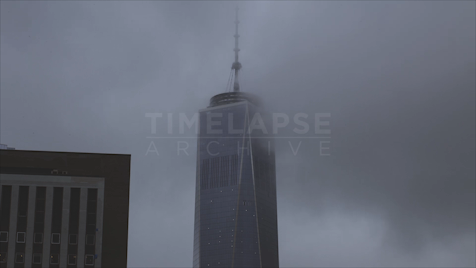 New York: One WTC Fog (CU)