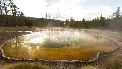 Time-lapse Yellowstone: Morning Glory Pool Reflection