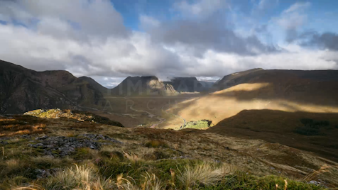 Time-lapse Scottish Highlands: Glen Coe Looking Over A82