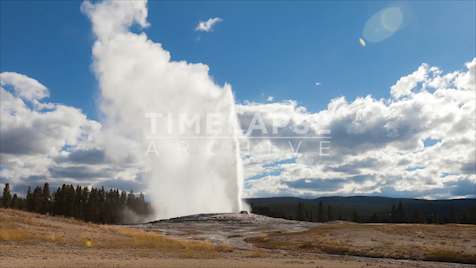 Time-lapse Yellowstone: Old Faithful