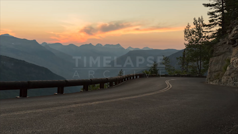 Time-lapse Montana: Going-to-the-Sun Road At Dusk