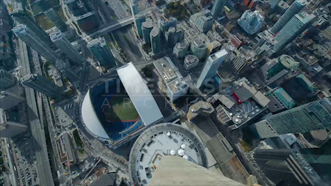 Time-lapse Toronto: Dome Close From CN Tower