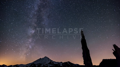 Time-lapse Washington: Mount Baker Starscape