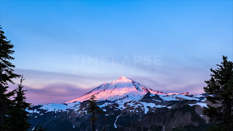 Time-lapse Washington: Mount Baker Sunrise