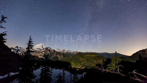 Time-lapse Washington: Artist Point Moonstrike
