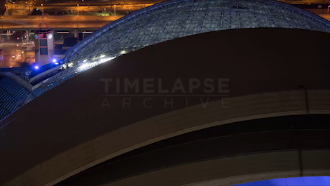 Time-lapse Toronto: Dome Close Night (CU)