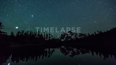 Time-lapse Washington: Picture Lake Astrolapse