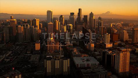 Time-lapse Seattle: Cityscape Sunset