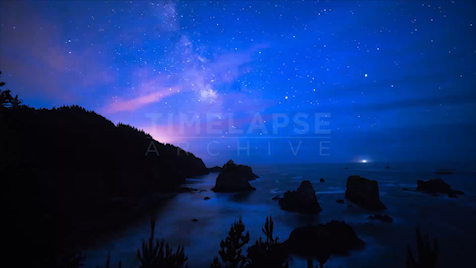 Time-lapse Oregon: Three Arch Rocks Astrolapse