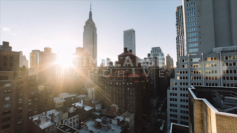 Time-lapse New York: Empire State Sunflare