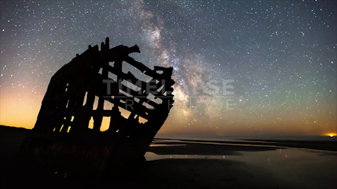 Time-lapse Oregon: Shipwreck Astrolapse 1