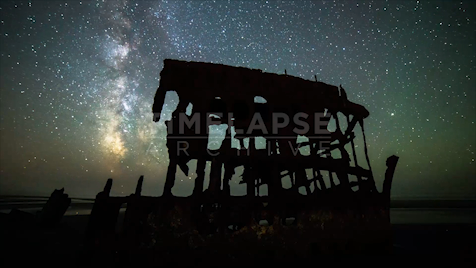 TIme-lapse Oregon: Shipwreck Astrolapse 2