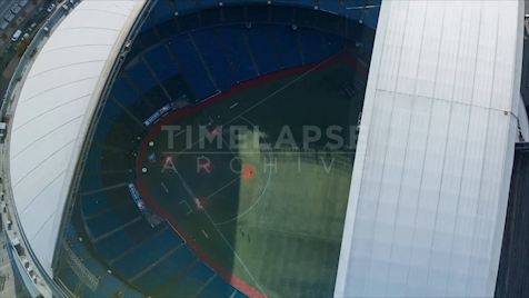 Time-lapse Toronto: Dome Close From Above
