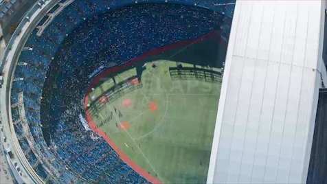 Time-lapse Toronto: Dome Clear-Out From Above