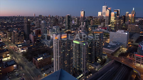 Time-lapse Toronto: Day To Night From Front & Spadina