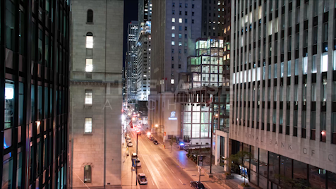 Time-lapse Toronto: Banks On King At Night