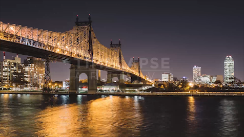 Time-lapse New York: Queensboro Bridge At Night