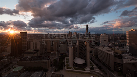 Time-lapse Toronto: City Hall Sunset