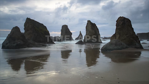 Time-lapse Oregon: Bandon Coast Jib Shot