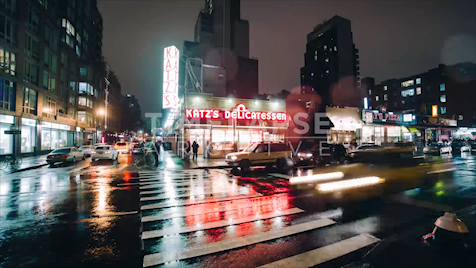 New York: Katz Deli At Night