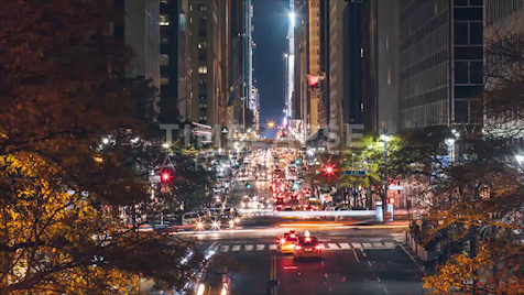 Time-lapse New York: E 42nd Street At Night